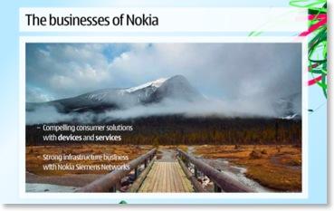 Folie aus Nokias Vision & Strategy-Präsentation