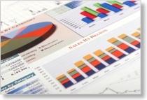 Diagramme zur Visualisierung von Geschäftszahlen in einem Business Report