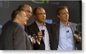 Die Vertreter von T-Mobile, Google, und HTC bei der Präsentation des Google-Handys
