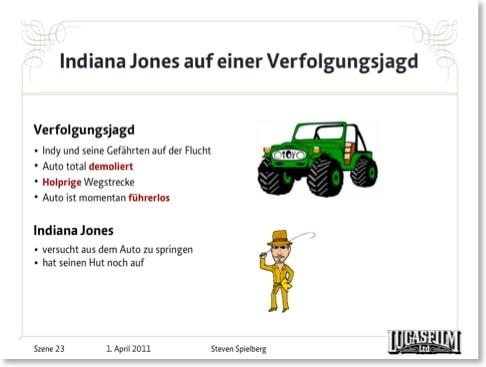 Indiana-Jones-Szene mit Cliparts