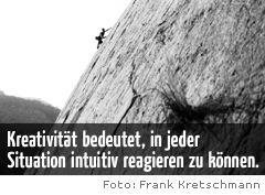 Freeclimber in Aktion: