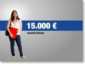 Nachher 3: Annette Krämer: 15.000€