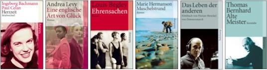 Unterschiedliche Bildmotive der Suhrkamp-Taschenbücher