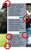 Schlechte Ausrichtung der Elemente in der Siemens-Präsentation
