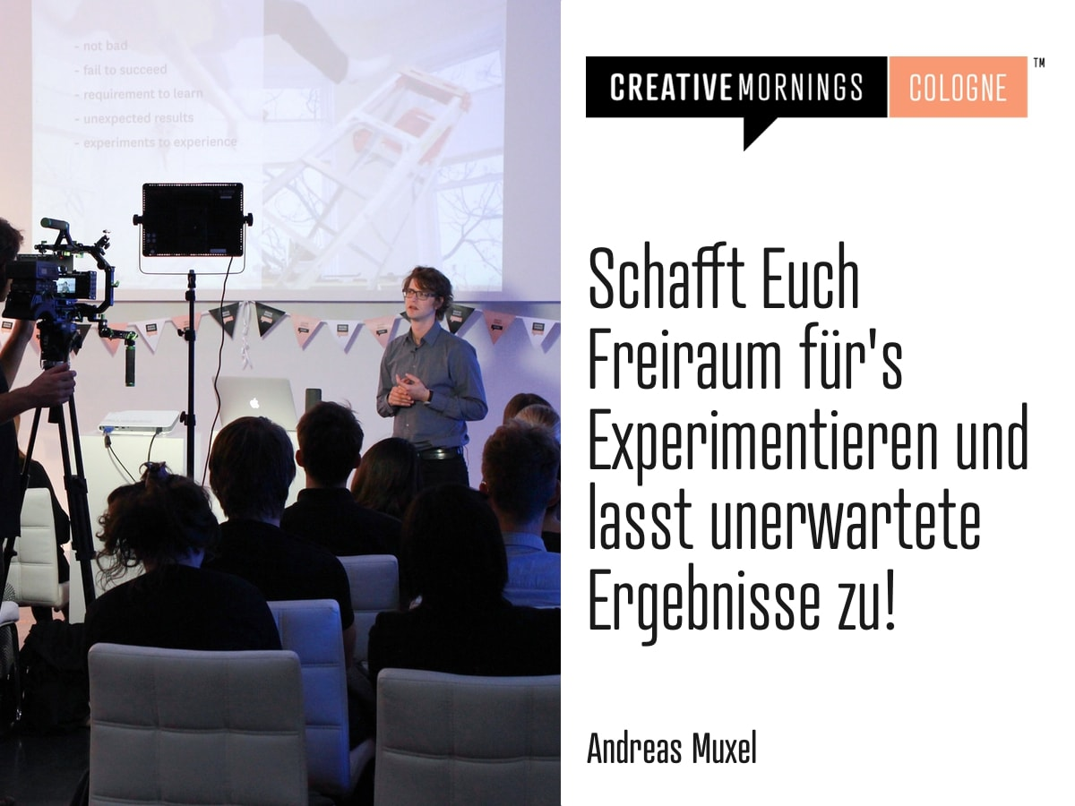 CreativeMornings Cologne: Andreas Muxel
