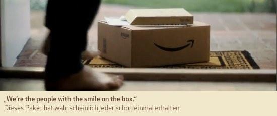 """""""We're the people with the smile on the box."""" Dieses Paket hat wahrscheinlich jeder schon einmal erhalten."""