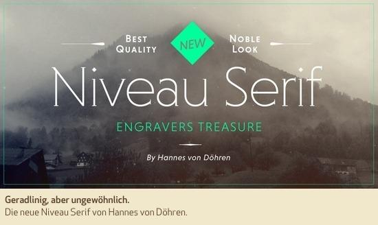 Geradlinig, aber ungewöhnlich. Die neue Niveau Serif von Hannes von Döhren.