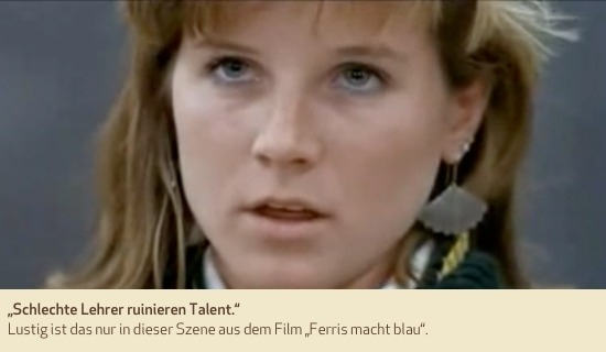 """""""Schlechte Lehrer ruinieren Talent."""" Lustig ist das nur in dieser Szene aus dem Film """"Ferris macht blau""""."""