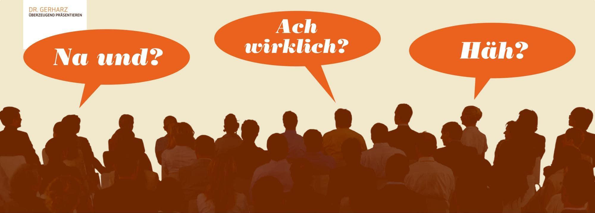 Warum schalten Zuhörer bei Vorträgen ab?