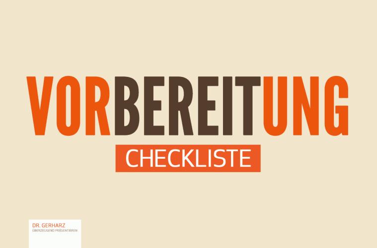 Checkliste Vortragsvorbereitung